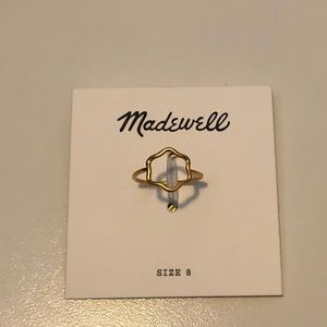 Madewell size 8 Wave Circle Ring